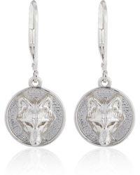 Alexa K - Silver Wolf Disc Earring - Lyst