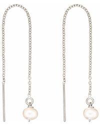 Lily & Roo - Solid Gold Diamond Huggie Hoop Earrings - Lyst