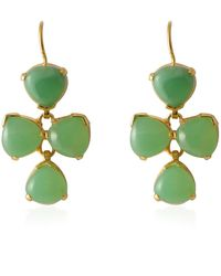 Emma Chapman Jewels - Elara Chrysopase Drop Earrings - Lyst