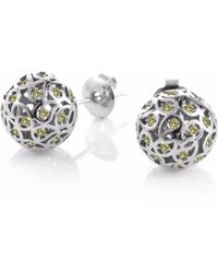 Sonal Bhaskaran - Svar Silver Stud Earrings Yellow Cz - Lyst