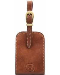 Maxwell Scott Bags - The Ledro Quality Leather Luggage Tag Chestnut Tan. - Lyst