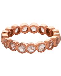 Carousel Jewels - Crystal Quartz Rose Gold Gemstone Band - Lyst