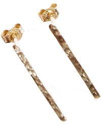 KIND Jewellery | Gold Horizon Earrings | Lyst