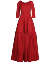 MATSOUR'I - Maxi Dress Eleonore Red - Lyst