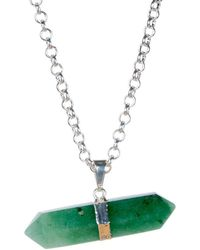 Tiana Jewel - Goddess Green Quartz Necklace Siena Collection - Lyst