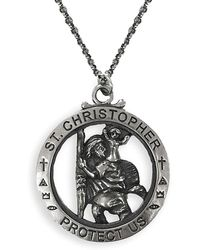 Serge Denimes - Silver St Christopher Necklace - Lyst