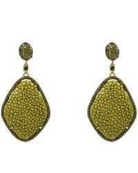 LÁTELITA London - Stingray Pavé Diamond Earring Kiwi - Lyst