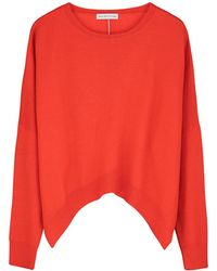 ILLE DE COCOS - Merino Cropped Sweater Red - Lyst