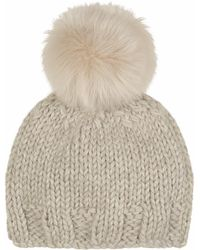 Gushlow and Cole - Chalk Hand Knit Beanie - Lyst