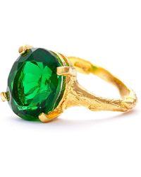 Chupi | Drop In The Wild Emerald Quartz & Gold | Lyst