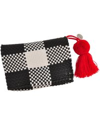 Soi 55 Lifestyle - Cheche Travel Pouch Black & White Check - Lyst