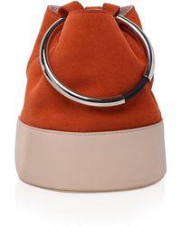 Arran Frances - Texa Coral & Nude Bucket Bag - Lyst