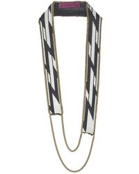 Fiona Paxton - Gia Black & Cream Necklace - Lyst