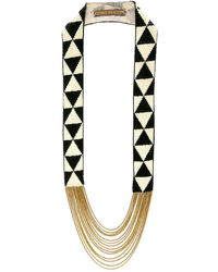 Fiona Paxton - Louise Black & Cream Necklace - Lyst