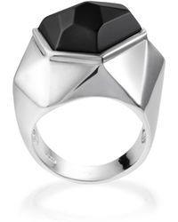 Ona Chan Jewelry - Lattice Cocktail Ring Black Agate - Lyst