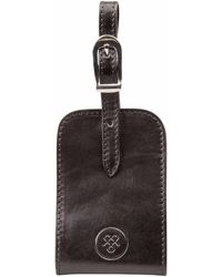 Maxwell Scott Bags - The Ledro Quality Leather Personalised Luggage Tag Black - Lyst