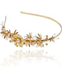 Linni Lavrova | Evia Hairband With Golden Flowers | Lyst