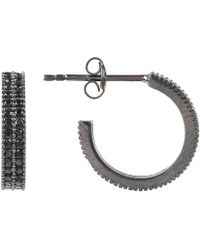LÁTELITA London - Medium Hoop Earring Oxidised Black - Lyst