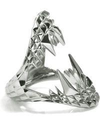 Kasun - Vampire Bite Ring Silver - Lyst
