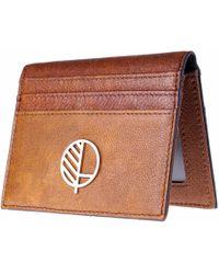 Drew Lennox - Luxury English Leather Men's Billfold Wallet In Non-embossed Rich Brown - Lyst