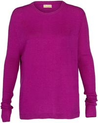 Asneh - Beverly Purple Cashmere Sweater With Rib Details - Lyst