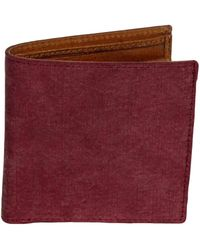 40 Colori | Burgundy Solid Washed Mogador & Leather Wallet | Lyst