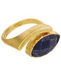 Ottoman Hands - Lapis Evil Eye Adjustable Ring - Lyst