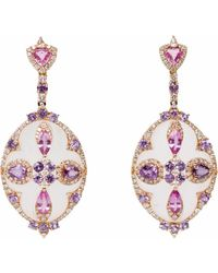 Ri Noor - Rock Crystal & Sapphire Earrings - Lyst