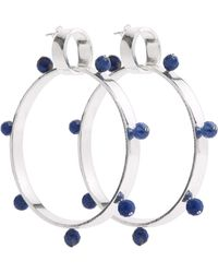 A. Carnevale - I Have A Love Hoops Silver & Blue - Lyst