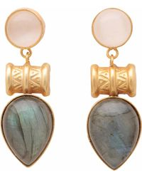 Carousel Jewels - Labradorite And Moonstone Drop Earrings - Lyst