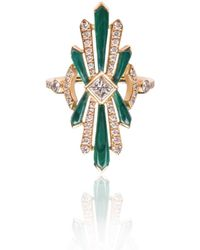Nayla Arida - Art Deco Ring Malachite - Lyst