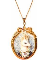 Hop Skip & Flutter - Prince Ambrose Deer Portrait Pendant Necklace - Lyst