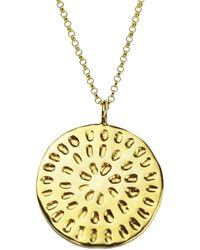 Yvonne Henderson Jewellery - Moroccan Inspired Large Organic Disc Pendant With Long Chain Gold - Lyst