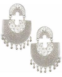 Kitik Jewelry - Sairi Silver Earrings - Lyst