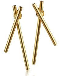 Marcia Vidal - Gold Hex Earrings - Lyst