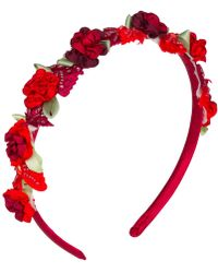 Vjera Vilicnik - Michaela Headband Red - Lyst