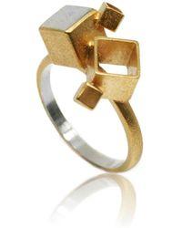 Karolina Bik Jewellery - Fujimoto Middle Ring Gold - Lyst