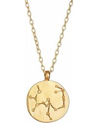Chupi - Sagittarius We Are All Made Of Stars Star Sign Necklace In Gold - Lyst
