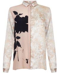 NEUE - Hera Rose Print Shirt - Lyst