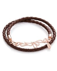 Sarah Ho - Sho Mari Double Friendship Bangle Brown