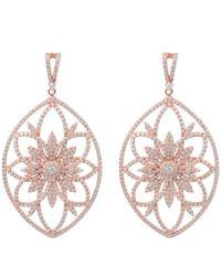 Latelita London | Medici Rosegold Earring Rosegold | Lyst