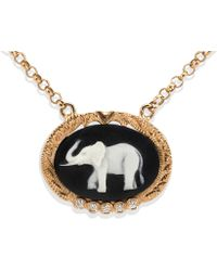 Vintouch Italy - Lucky Elephant Cameo Necklace - Lyst