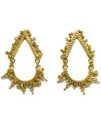 Annabelle Lucilla Jewellery - Eclipse Earrings Gold - Lyst