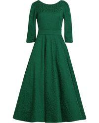 MATSOUR'I - Jacquard Dress Alyzee Green - Lyst
