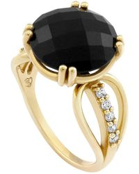 Monarc Jewellery | The Wing Me Ring 9ct Gold Onyx And Diamond | Lyst