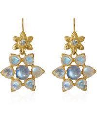 Emma Chapman Jewels - Elara Moonstone Aquamarine Earrings - Lyst