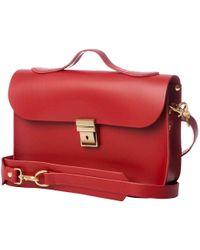 N'damus London - Small Trilogy Red Leather Rucksack & Satchel - Lyst