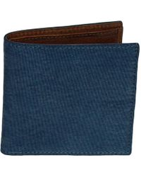 40 Colori | Petrol Solid Washed Mogador & Leather Wallet | Lyst