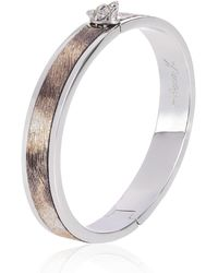 Alexa K - Silver Leather Wolf Bangle - Lyst