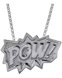 Edge Only Pow Pendant Xl Long In Silver